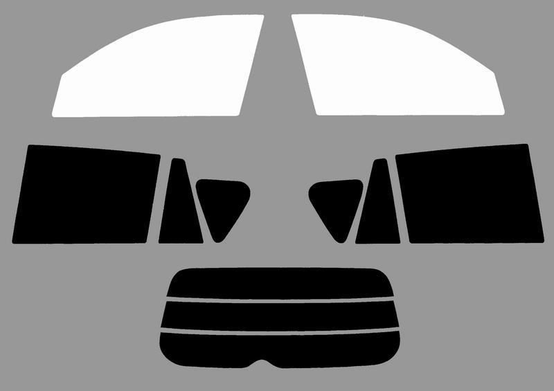 トヨタ RAV4 5dr 車種別カット済フィルム(激安タイプ各色)